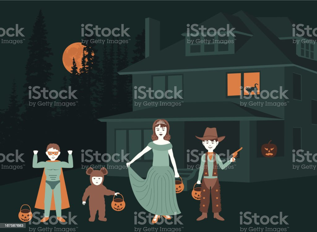 Trick or Treat royalty-free stock vector art