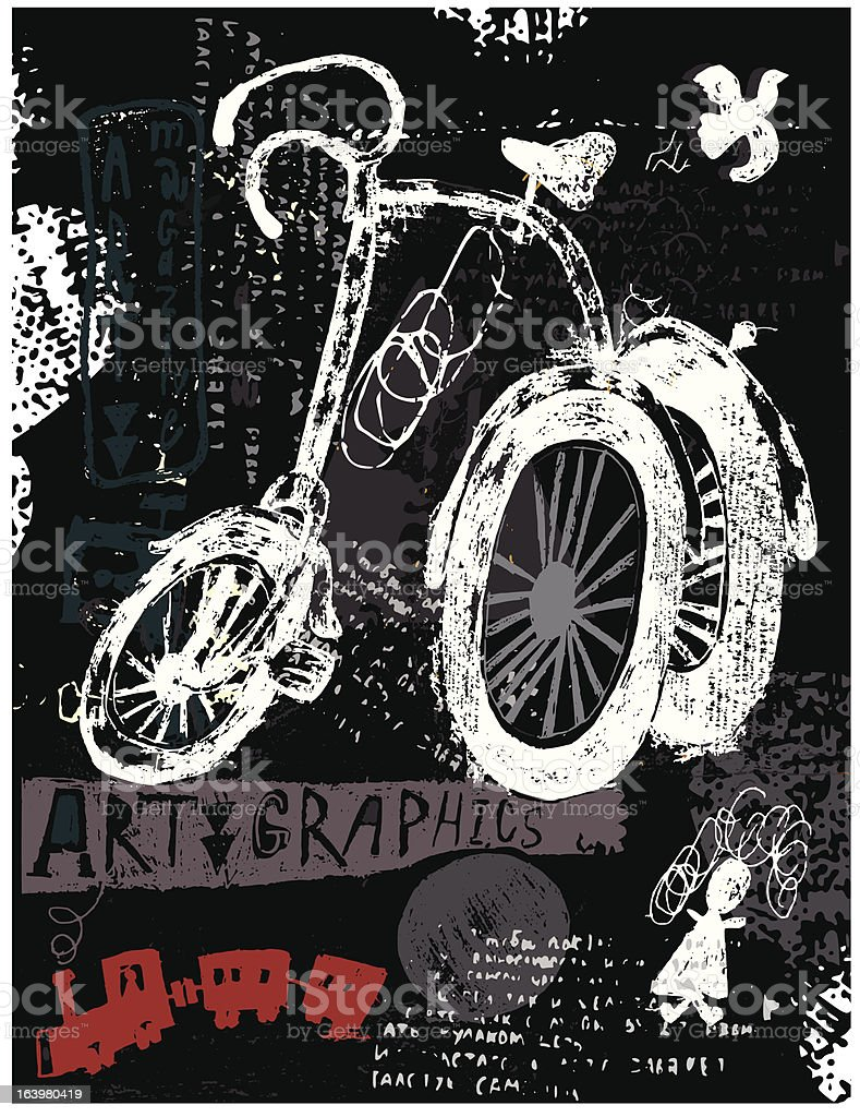 Tricycle royalty-free tricycle stock vector art & more images of ball