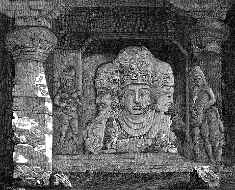 Trimurti, representation from the cave temple