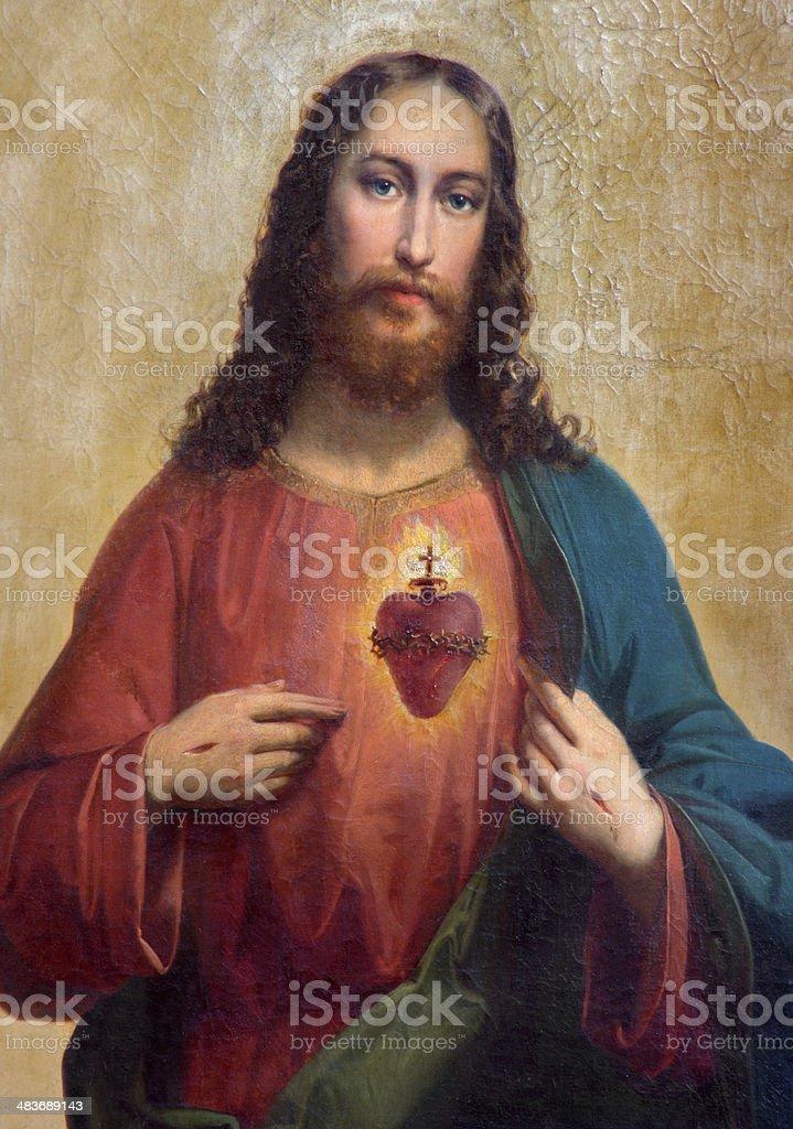 Trnava -  Heart of Jesus Christ vector art illustration