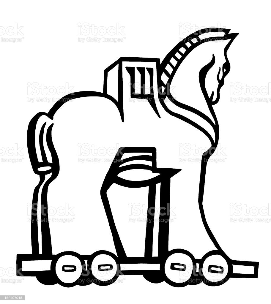 Trojan Horse royalty-free trojan horse stock vector art & more images of animal imitation