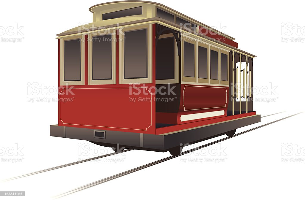 Trolley Car royalty-free trolley car stock vector art & more images of cable car