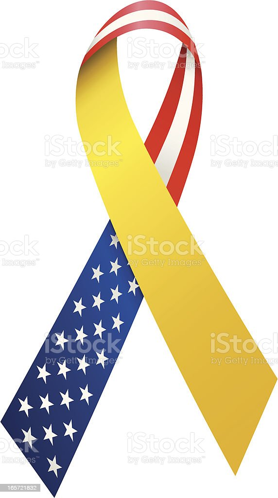 Troop Support Ribbon royalty-free troop support ribbon stock vector art & more images of american flag