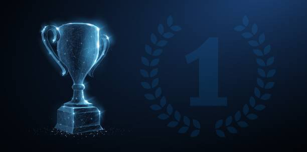 Trophy cup. vector art illustration