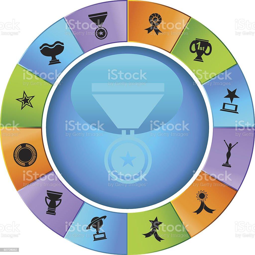 Trophy Wheel royalty-free stock vector art