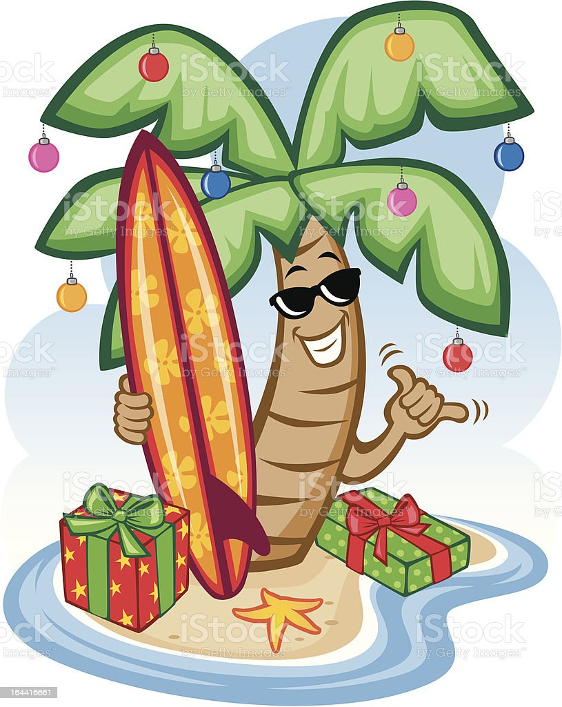 Tropical Christmas royalty-free tropical christmas stock vector art & more images of beach
