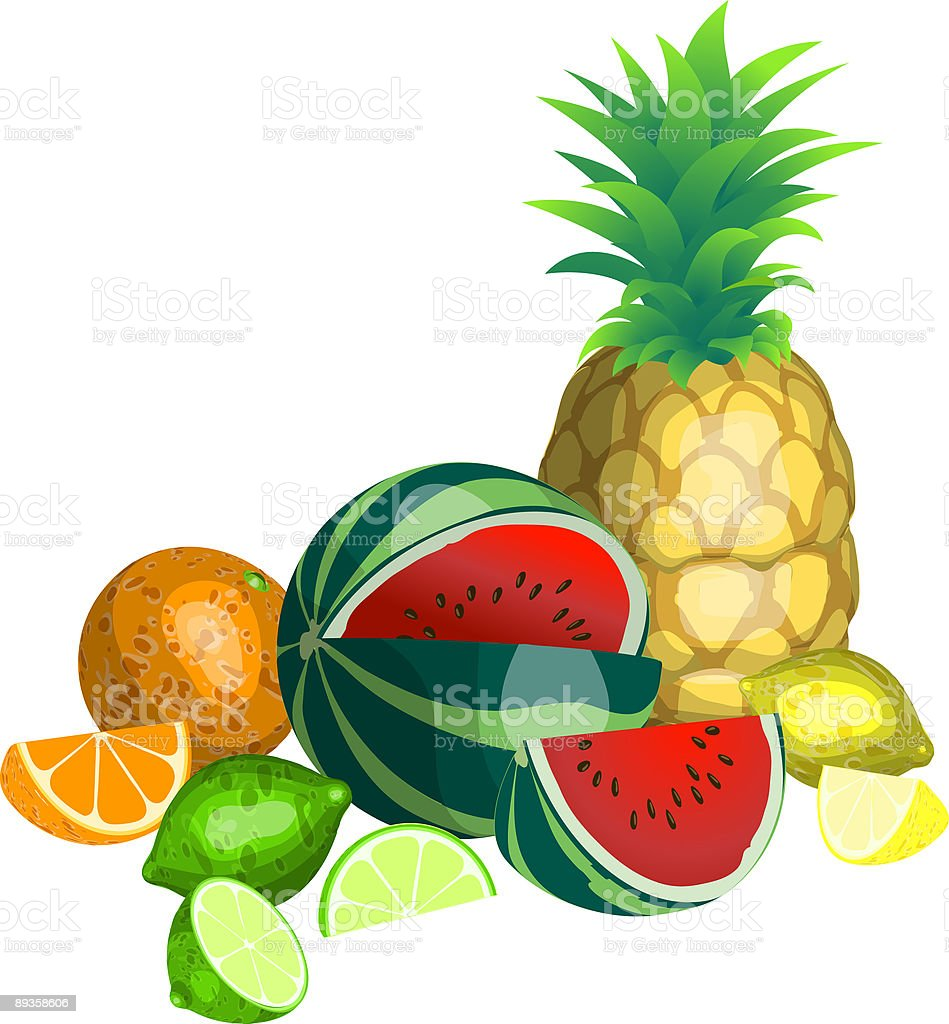 Tropical Fruit royalty-free stock vector art