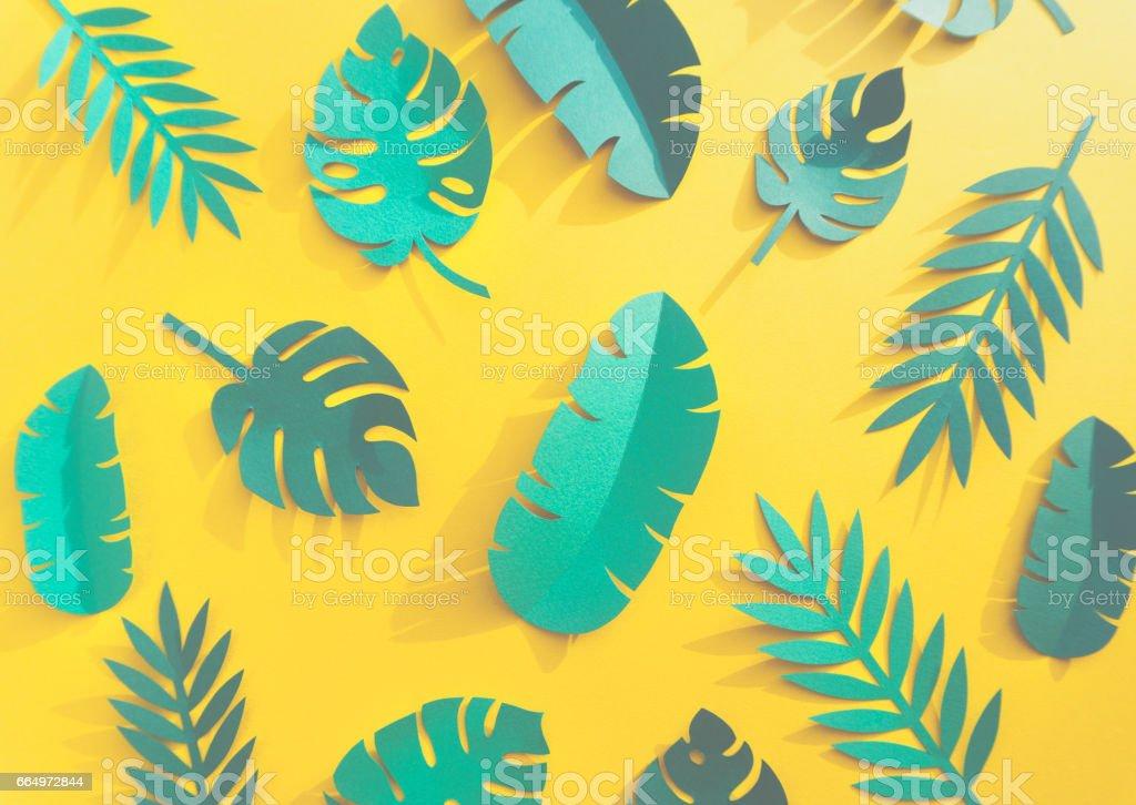 Tropical Handcrafted Papercraft Nature Petals vector art illustration