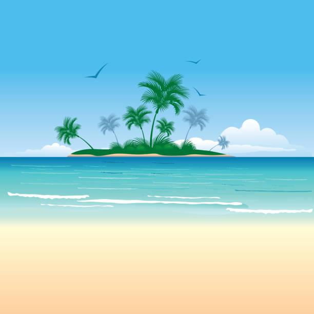 bildbanksillustrationer, clip art samt tecknat material och ikoner med tropical island - ö
