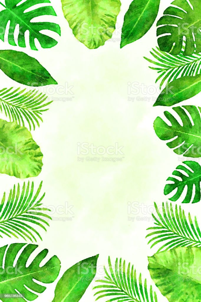 Tropical leaves background in a watercolor style 1 royalty-free tropical leaves background in a watercolor style 1 stock vector art & more images of banana