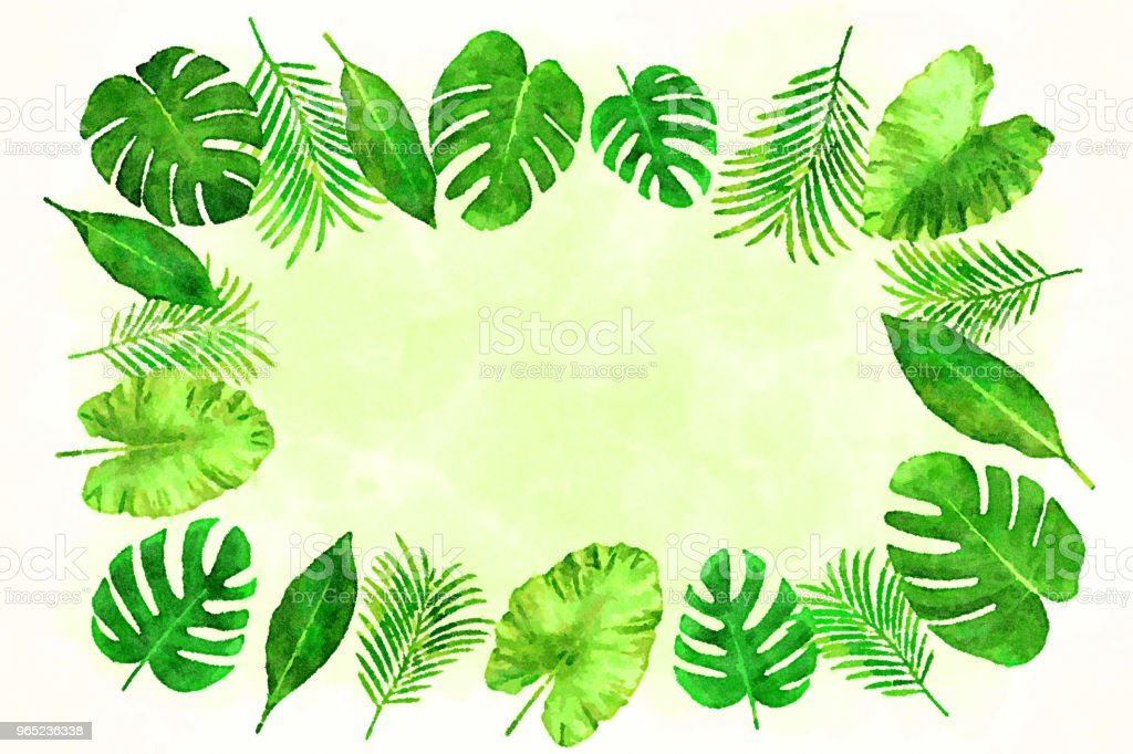 Tropical Leaves Background In A Watercolor Style 2 Stock Illustration Download Image Now Istock Choose from 600+ tropical leaves graphic resources and download in the form of png, eps, ai or psd. tropical leaves background in a watercolor style 2 stock illustration download image now istock