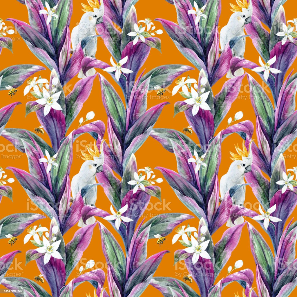 Tropical leaves pattern royalty-free tropical leaves pattern stock vector art & more images of art