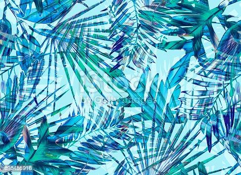 Jungle leaf background.