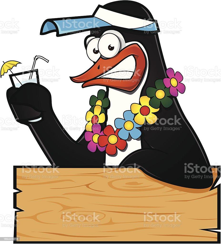 Tropical Penguin. vector art illustration