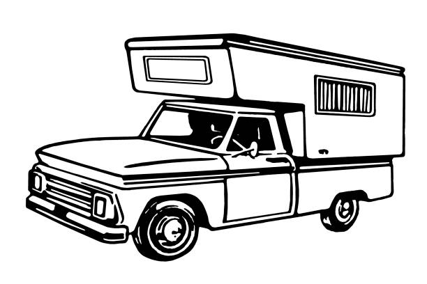 Truck Camper Truck Camper rv interior stock illustrations