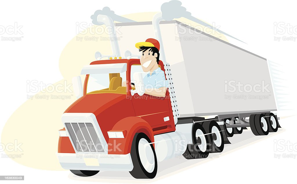 royalty free truck driver clip art  vector images Semi Truck Outline Semi Truck SVG