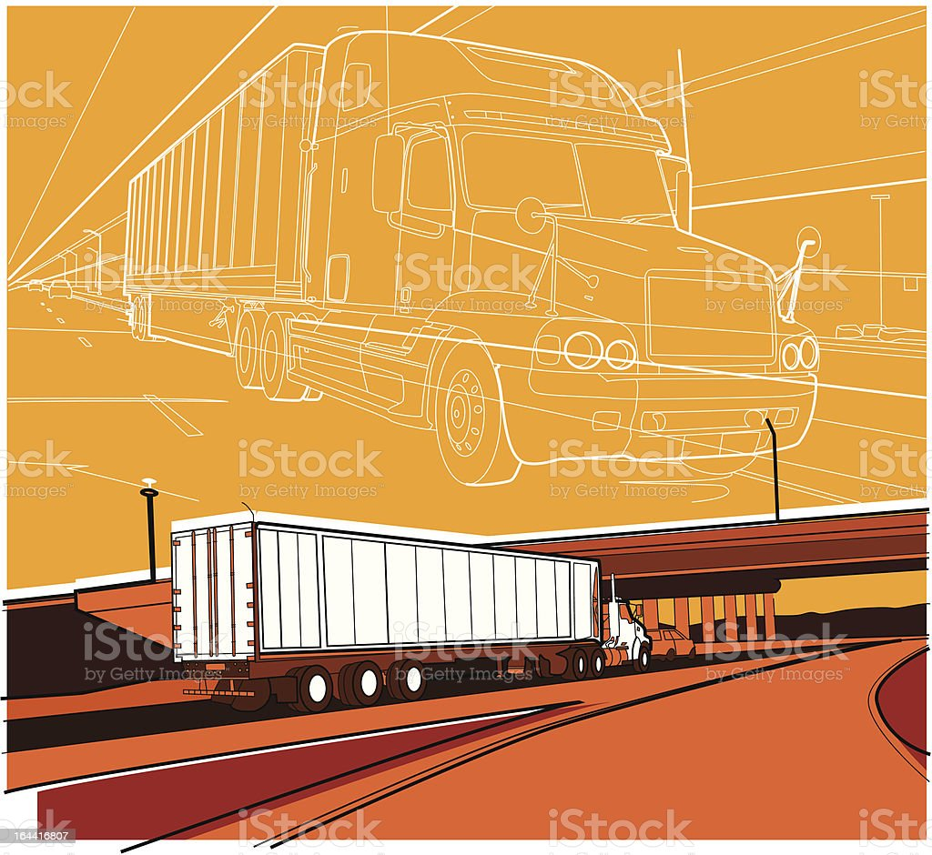 truck royalty-free truck stock vector art & more images of cargo container