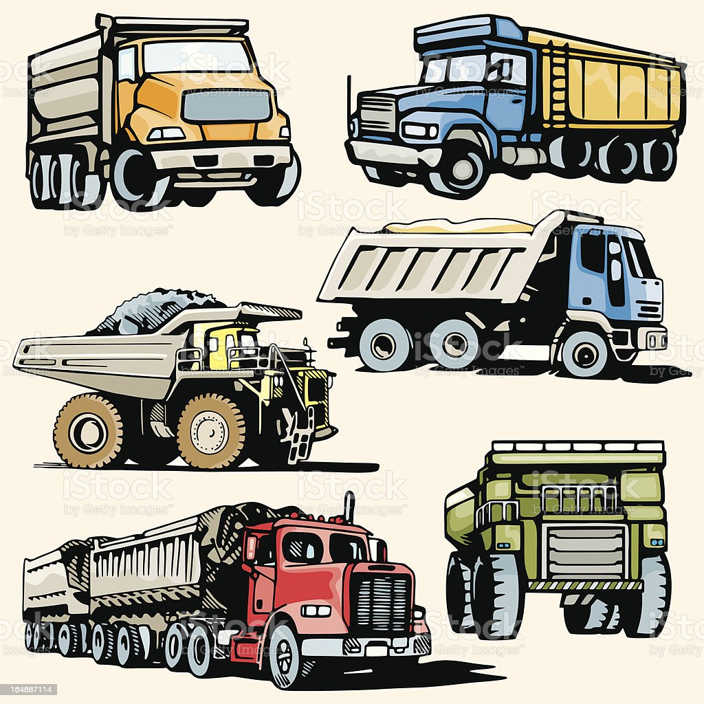 truck illustrations xxxv construction trucks stock vector art