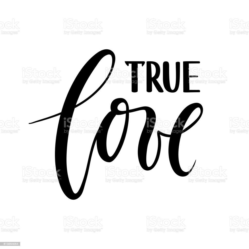 True love beautiful hand drawn lettering isolated on white true love beautiful hand drawn lettering isolated on white background royalty free true altavistaventures Image collections