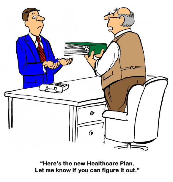 trumpcare health plan - trump stock illustrations