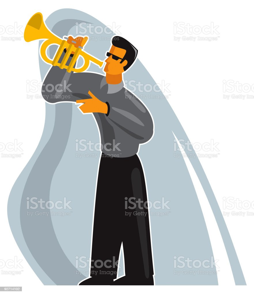 trumpet player royalty-free trumpet player stock vector art & more images of adult