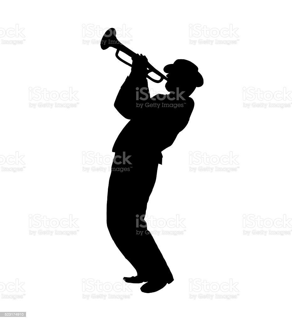 Trumpeter JAZZ Musician vector art illustration