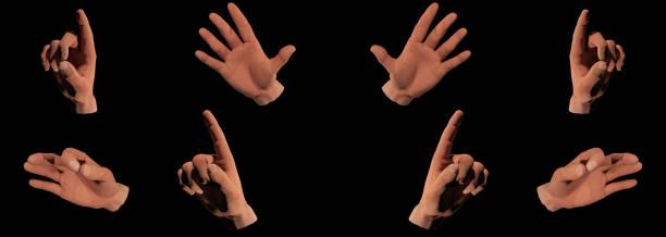 illustrazioni stock, clip art, cartoni animati e icone di tendenza di trump's hand gestures - trump