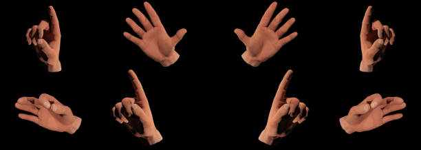 trump's hand gestures - trump stock illustrations