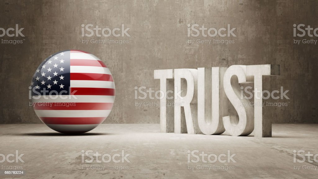 Trust Concept royalty-free trust concept stock vector art & more images of american flag
