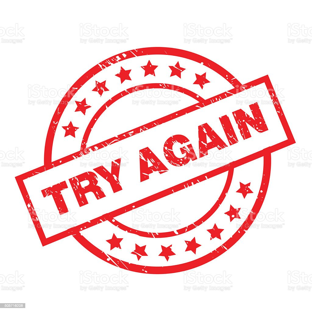 royalty free try again clip art vector images