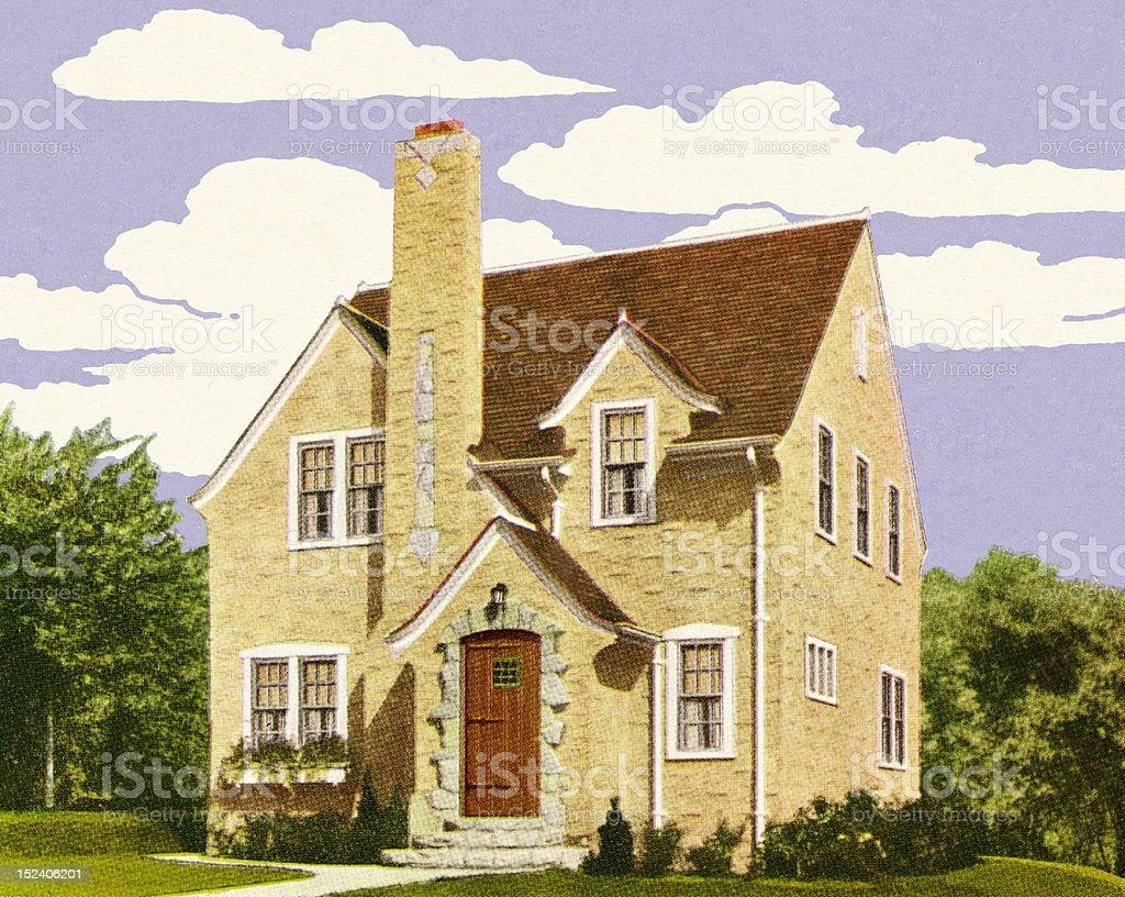 Tudor Style House royalty-free stock vector art