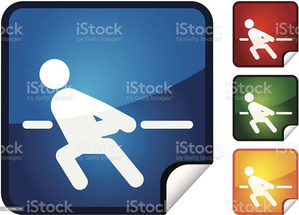 Tug of War | Sticker Collection royalty-free stock vector art