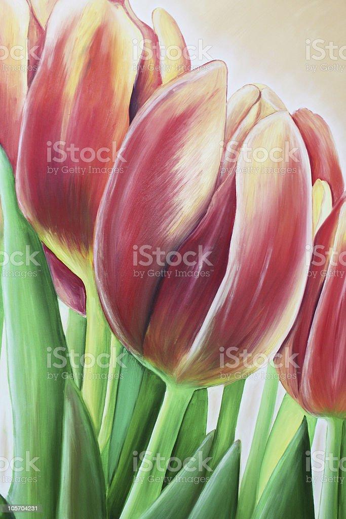 tulip painting royalty-free stock vector art