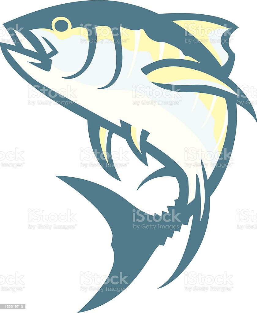 tuna vector art illustration