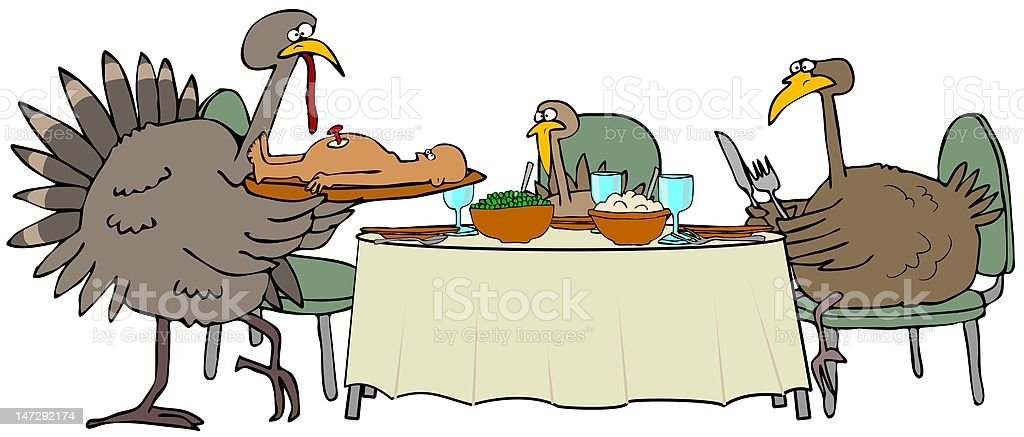 Turkey Dinner royalty-free turkey dinner stock vector art & more images of bird