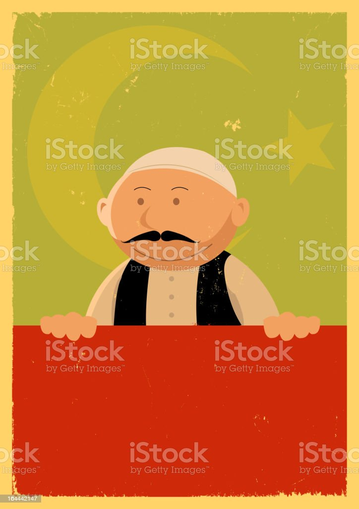 Turkish Cook Banner vector art illustration