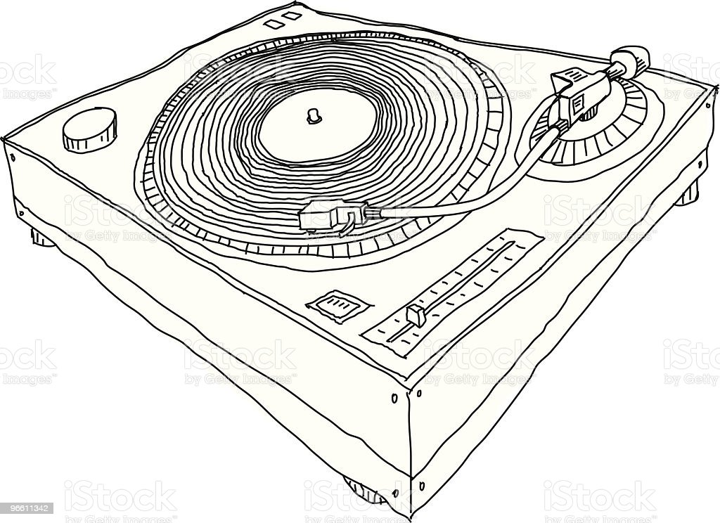 Turntable - Royalty-free Art And Craft stock vector