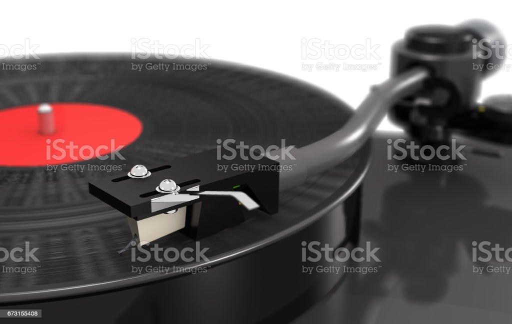 Ilustración de Vinilo Tocadiscos Con El Disco De Gramófono Macro ...