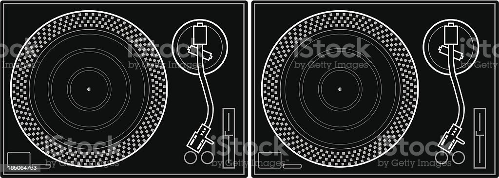 Turntables royalty-free stock vector art