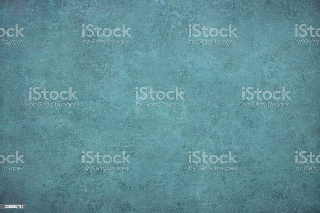 Turquoise dotted grunge texture, background vector art illustration