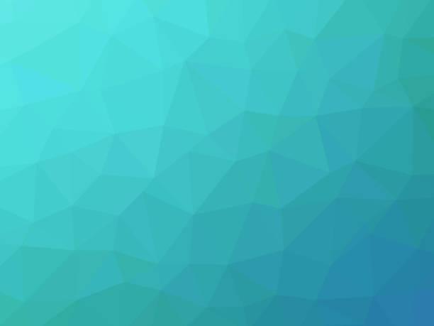 Turquesa fondo poligonal - ilustración de arte vectorial