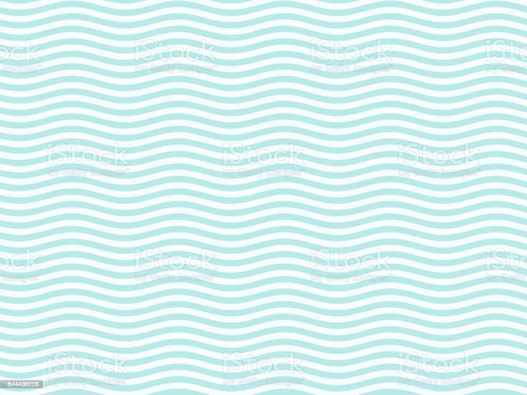 青緑色の波状のパターン ベクターアートイラスト