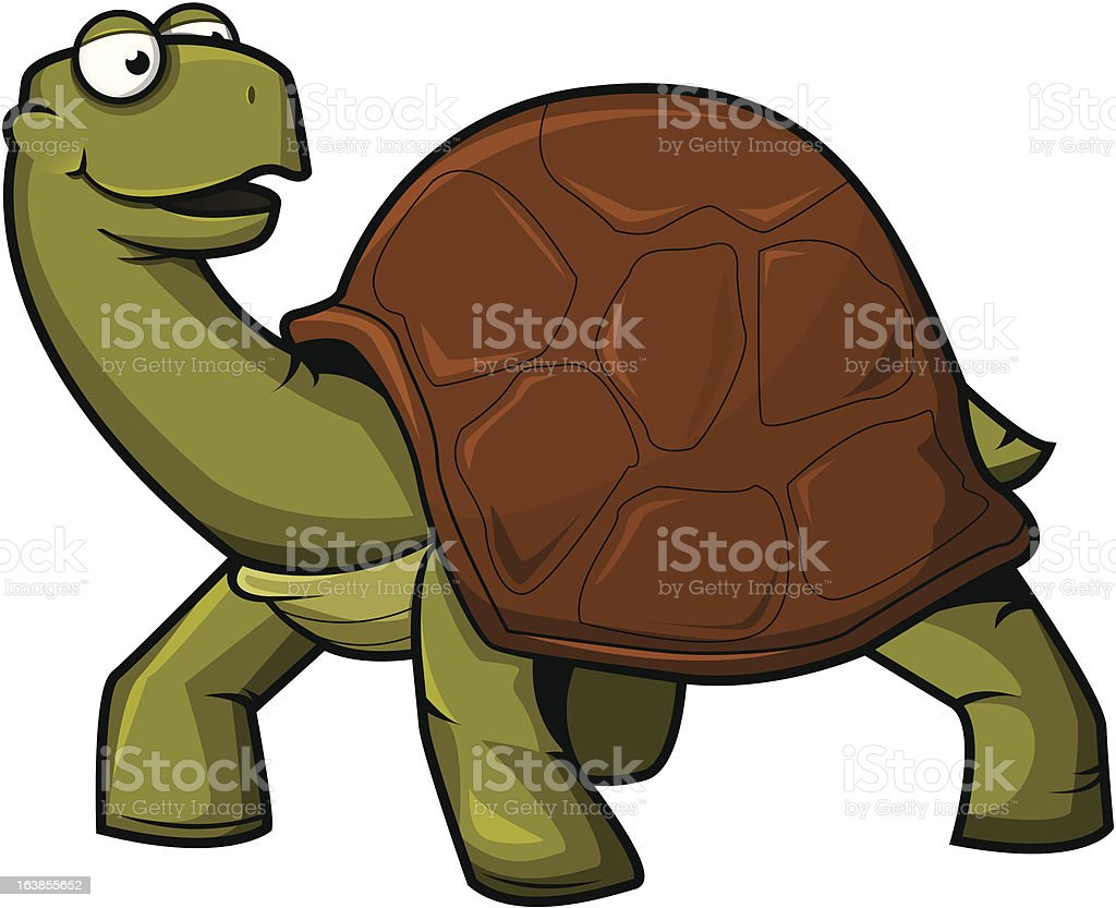 Turtle vector art illustration