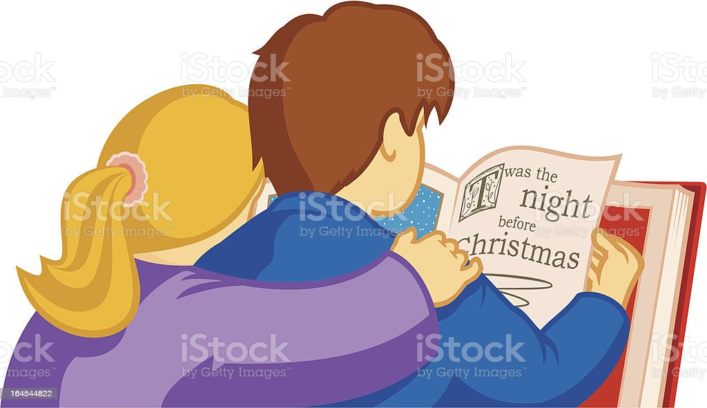 Twas The Night Before Christmas... vector art illustration
