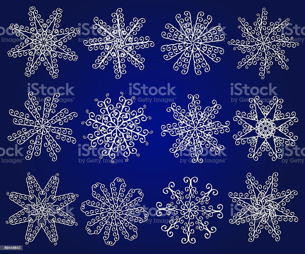 Twelve vector snowflakes. royalty-free twelve vector snowflakes stock vector art & more images of abstract