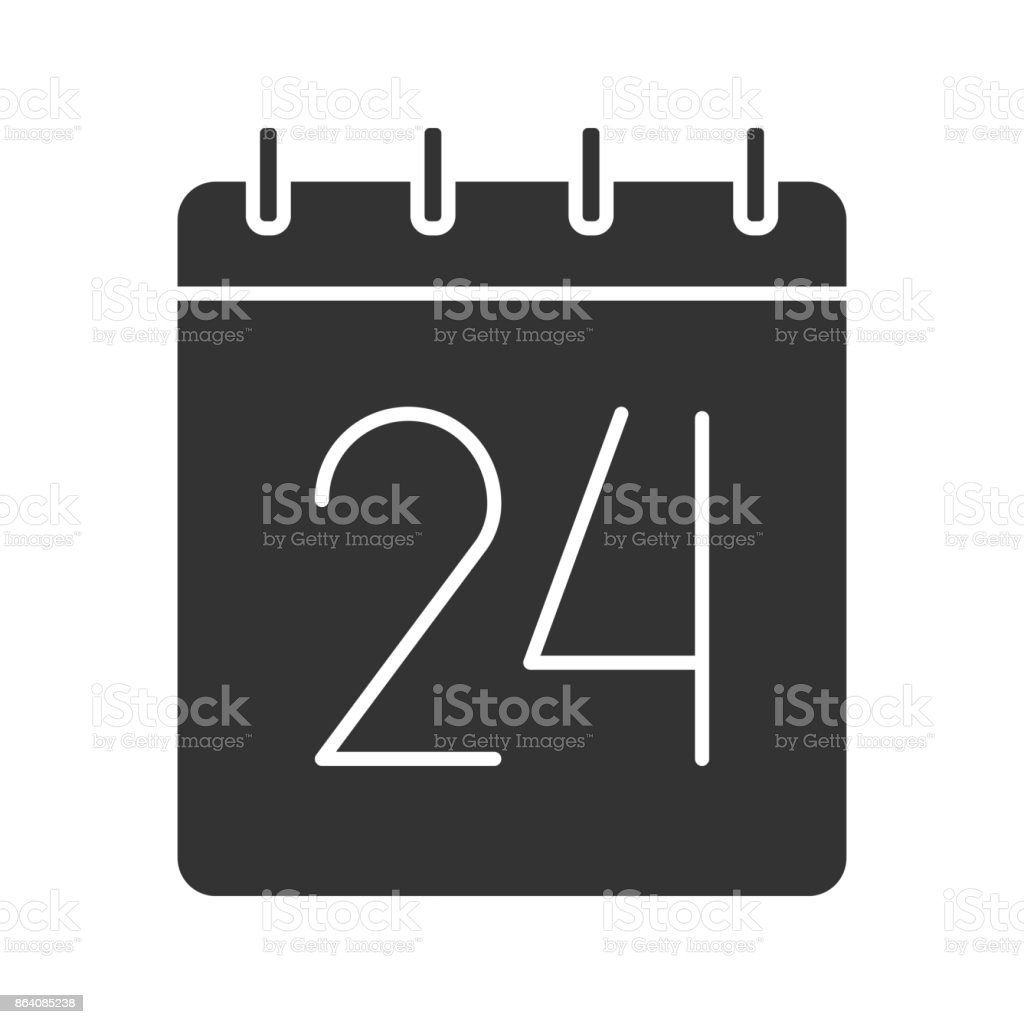 Twenty fourth day of month icon royalty-free twenty fourth day of month icon stock vector art & more images of classical style