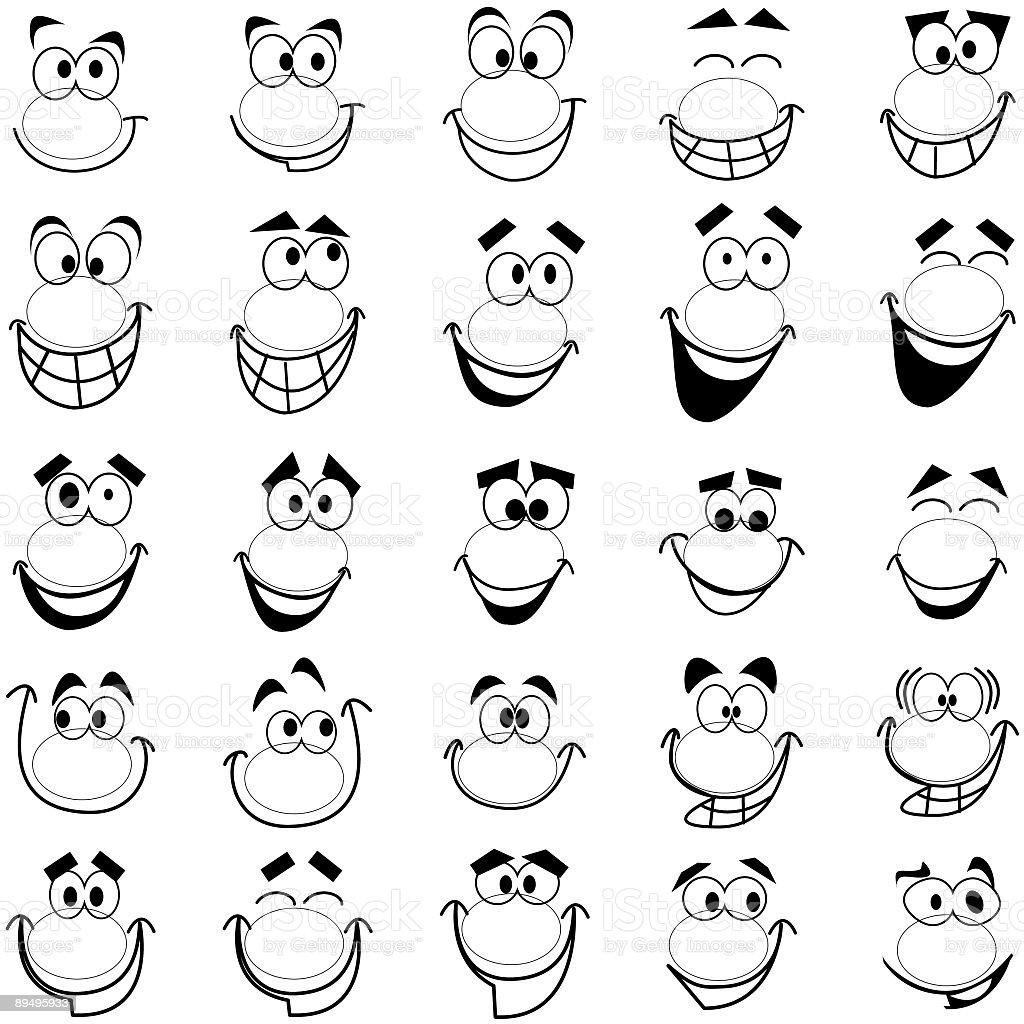 Twenty-five Smiles 1 vector art illustration