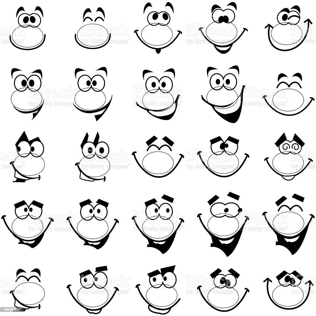 Twenty-five Smiles 2 royalty-free stock vector art