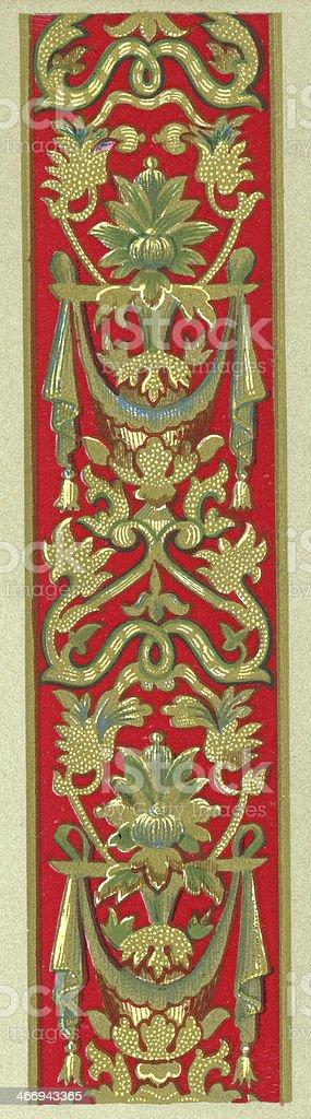 Twining Foliage Pattern - 16th Century vector art illustration