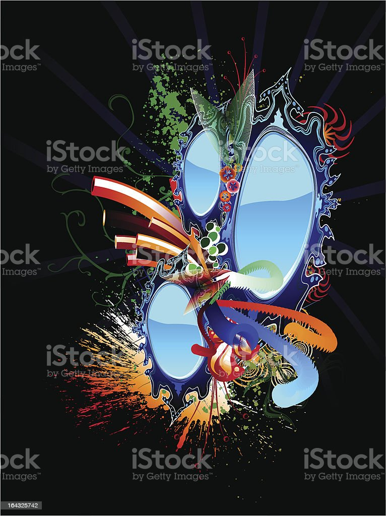 Twisted Mirrors royalty-free stock vector art